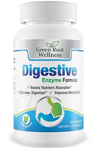 Suplemento de enzimas digestivas - mejor digestión fórmula - apoya la digestión de las comidas, las funciones pancreáticas y reduce la hinchazón - contiene proteasa, amilasa y lipasa - estómago Natural bienestar ayuda - guía libre a salud digestiva inclui