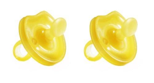 Natursutten 2 paquete BPA Free chupetes de caucho Natural, mariposa ortodoncia, 0 - 6 meses