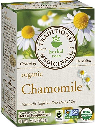 Medicinales tradicionales orgánicos, manzanilla, cajas 16-Count (paquete de 6)