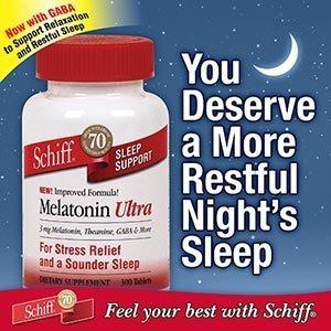 Schiff melatonina sueño Ultra apoyo tabletas - 300 ct.