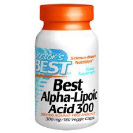 Mejores el ácido alfa lipoico 300 Doctors Best 180 VCaps