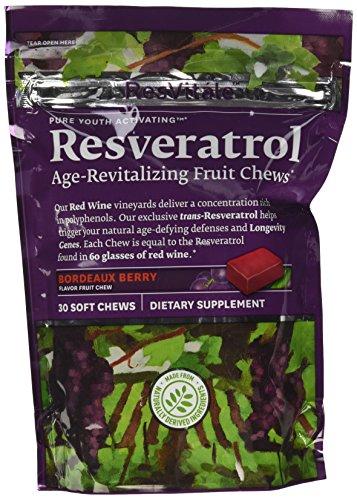 ResVitale - edad de Resveratrol-revitalizante fruta masticables Burdeos Berry - 30 tabletas suaves