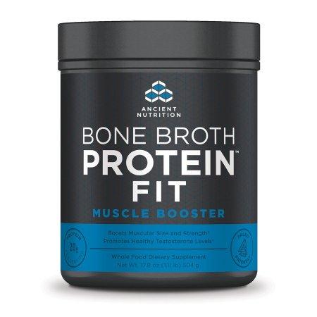 Ancient Nutrition proteína ósea Caldo FIT refuerzo muscular - 20 Porciones - el tamaño muscular y fuerza - los niveles de testosterona