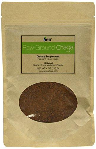 Polvo crudo de Chaga siberiana - Super antioxidante de té, apoya el sistema inmunológico (4 onzas)