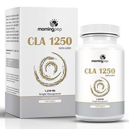 CLA 1250 mg 180 conde potencia más alta de 80% ácido linoleico conjugado Dieta de Control de Peso Suplemento Por Morning Pep N