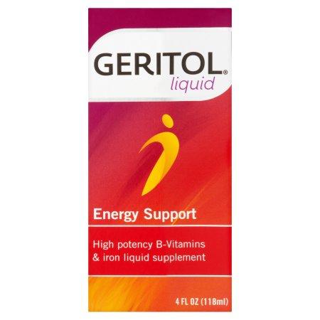 GERITOL Tonic con Ferriex 18 Multi-vitamina y hierro Suplemento 4 fl oz