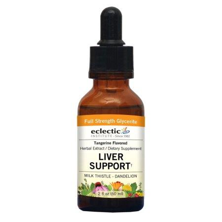 Liver Support (anteriormente cardo de leche-diente de león) Mandarina Flavor No Alcohol Glycerite Eclectic Institute 2 oz Liqui