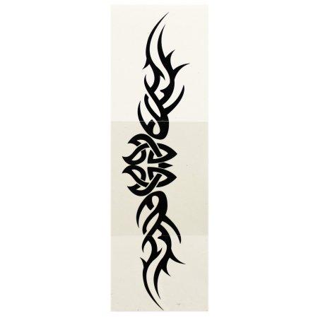 Alado intrincado tejido de diseño del símbolo tatuaje temporal