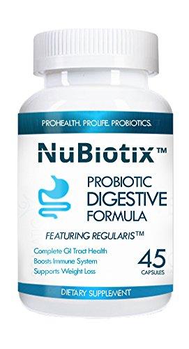 Nubiotix Ct 45 botella - Buy 2 Get 1 Free, introducir cantidad 2 y las 3 naves de botella automáticamente - mejor suplemento probiótico - suplemento de la salud patentada completa - una vez al día - ayuda a la digestión eficaz, aumentador de presión inmun
