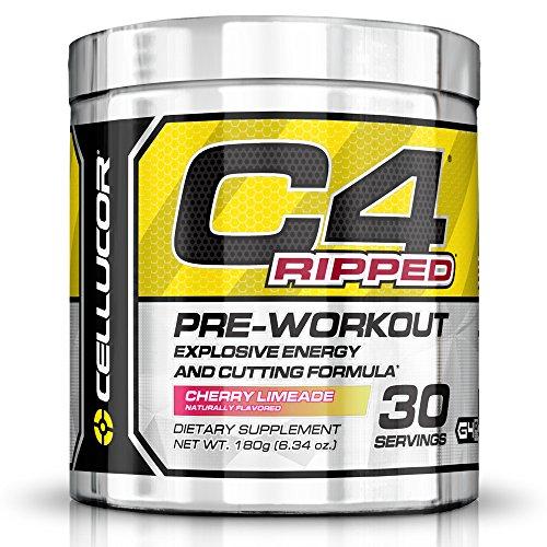 Cellucor C4 arrancó pre-entrenamiento termogénico quemador de grasa polvo, energía pre-entrenamiento, peso pérdida, 30 porciones, Limeade de cereza