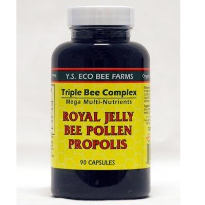 YS abeja Triple orgánico complejo jalea real polen propóleo de abeja--90 capsulas