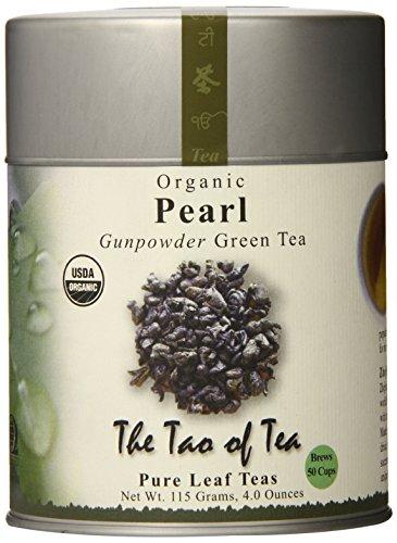 El Tao de la Tea, el té verde perla, hojas sueltas, 4,0 onzas lata