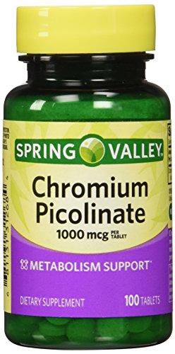 Spring Valley - cromo picolinato 1000 mcg, 100 tabletas