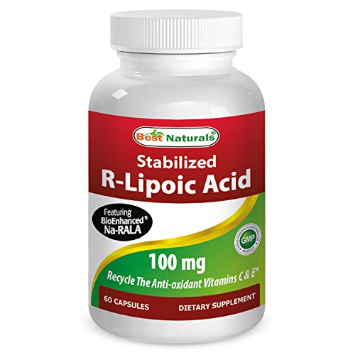 R-lipoico ácido 100 mg 60 cápsulas por mejor Naturals presenta estabilizado Bioenhanced Na-RALA - mantiene saludable azúcar en la sangre como parte de la dieta * - fabricado en un E.e.u.u. base certificada GMP y FDA inspeccionó instalaciones y tercero pru