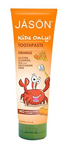 JASON Kids Only, naranja pasta de dientes, 4,2 onzas