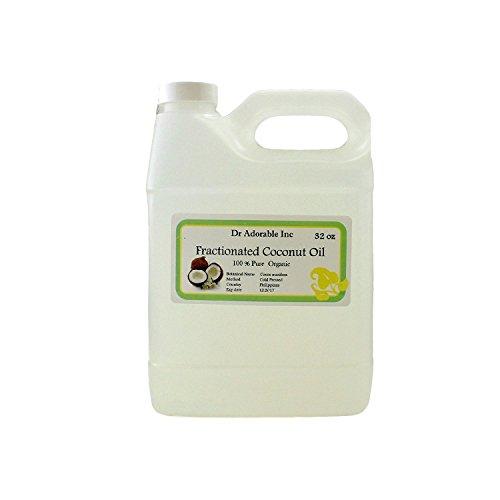 Aceite de coco fraccionado puro orgánico 32 Oz/1 cuarto