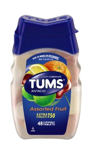 Tums Ex, surtido frutas, cuenta 48