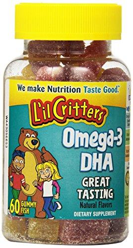L'il Critters gomitas vitamina de Omega-3, 60 Count (paquete de 2)