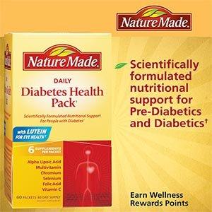 Naturaleza hecho diario Diabetes Health Pack - cuenta 60
