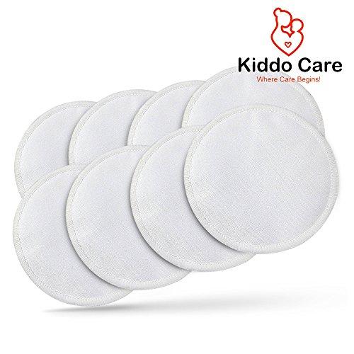 #1 paquete de cojines de lactancia lavable de bambú orgánico mejor -8 (4 pares)-reutilizables protectores, almohadillas sujetador, Leakproof, Ultra suave, impermeable, hipoalergénico lactancia almohadillas, almohadillas absorbentes + 2 Ebooks gratis!