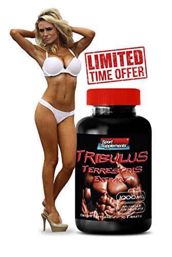 Tribulus Terrestris extracto 1000mg - Booster de testosterona Natural superior - Premium Qaulity (1 frasco 90 tabletas)