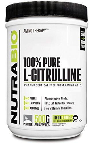 NutraBio 100% puro L-citrulina polvo - 500 gramos