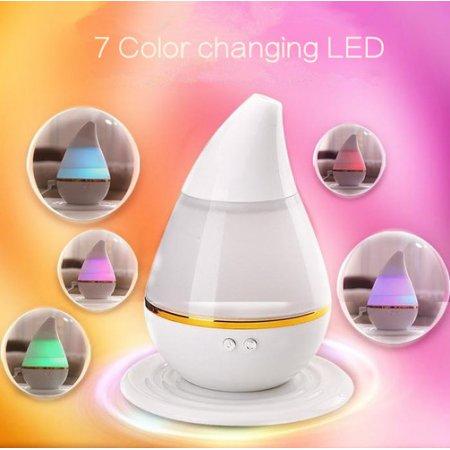 Difusor de aceite vaporizador aromaterapia humidificador ultrasónico de vapor frío con 7 colores LED luces que cambian