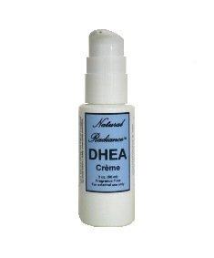 Botella de bomba crema tópica DHEA natural Radiance, perfume, 2 onzas