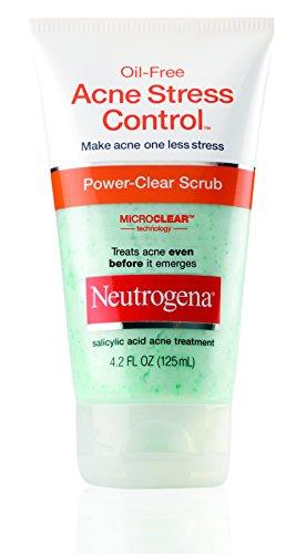 Acné de Neutrogena estrés Control claro poder exfoliante, 4.2 onzas de líquido