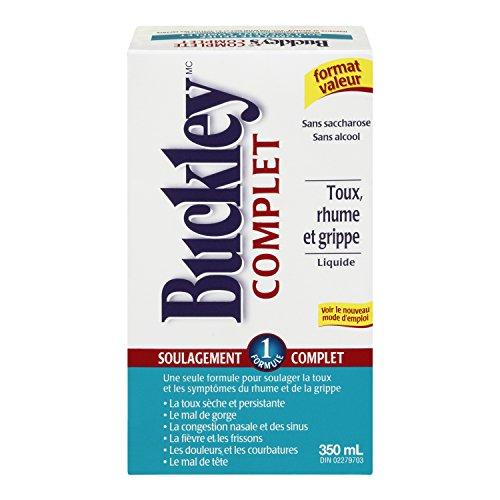 Original 'Completo' jarabe BUCKLEY para el alivio de la tos en gran tamaño valor de 350 ml
