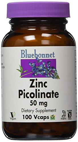 BlueBonnet Zinc picolinato cápsulas vegetarianas, 50 mg, 100 cuenta