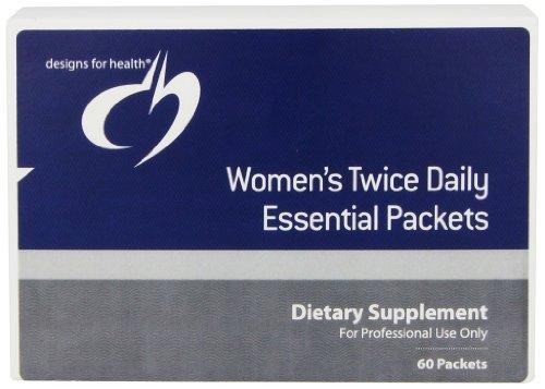 Diseños para la dos veces diarias esenciales paquetes salud de la mujer, cuenta 60