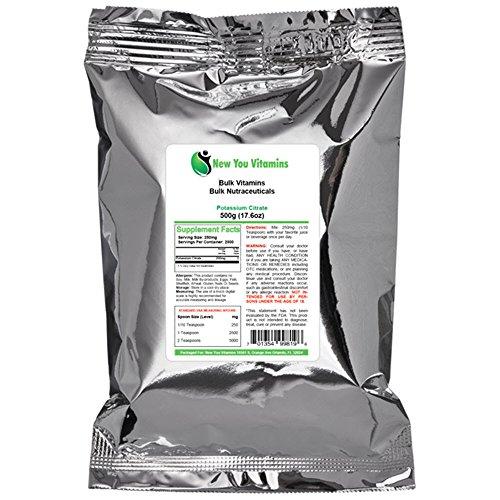 Potasio citrato polvo por nueva vitaminas te a granel 100% puro polvo de citrato de potasio a granel 1000 g (1000 gramos) 35,2 oz (35,2 onzas)