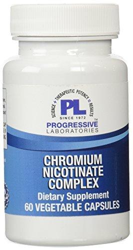 Laboratorios progresiva suplemento nicotinato de cromo, cuenta 60