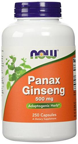 AHORA alimentos Panax Ginseng, capsulas de 250 / 500mg