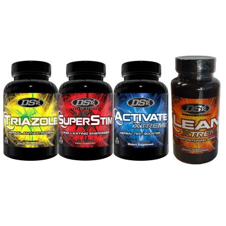 DRIVEN SPORTS Activate Xtreme Triazol Lean Xtreme y Superstim Combo Pack 4 Productos