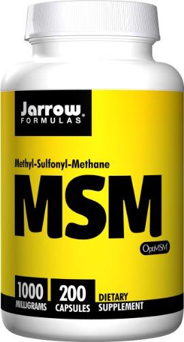 Jarrow Formulas - MSM azufre 1000 mg - 200 cáps (paquete de 2)