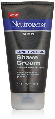 Neutrogena piel sensible de los hombres afeitarse crema, 5,1 onzas (paquete de 2)