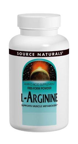 Source Naturals L-arginina 1000mg, 100 tabletas de (Pack de 2)