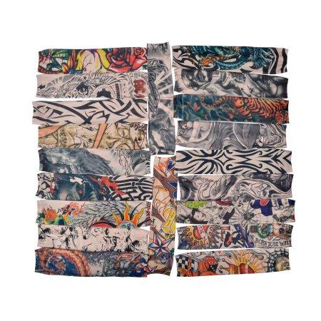 Bundle 20pc paquete falso tatuaje temporal colorido Mangas Arte medias del brazo