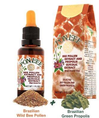Brasileño totalmente Natural inmune impulsar Lee Pon verde el polen de abeja y propoleo extracción 30ml (3 botellas)