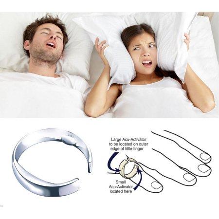 Lucha contra el ronquido anillo acupresión Apnea Ayuda para dormir anillo de la parada del ronquido