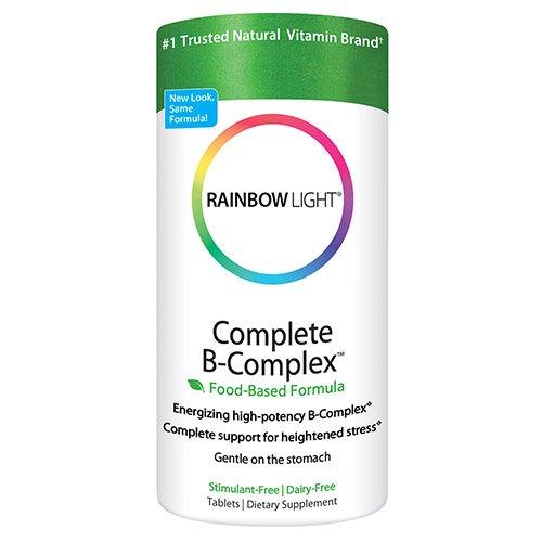 Arco iris luz completa del complejo B, alimentos base, tabletas, 180 tabletas