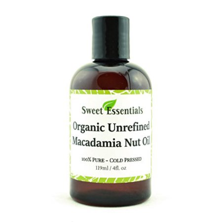 100% puro prensados en frío Orgánica Virgin - sin refinar aceite de nuez de macadamia - 4 oz - Importado de Italia - Ofe