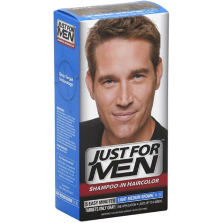 Just For Men Hair Color de luz-marrón medio H30 1 Cada (paquete de 4)
