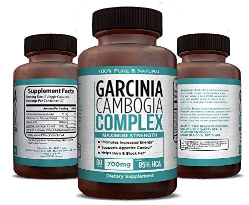 95% HCA fuerza máxima pura Garcinia Cambogia extracto 1400mg - Carb Blocker, supresor del apetito, quemador de grasa - suplemento para bajar de peso - Made in USA - garantizado!