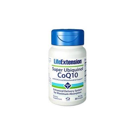 Súper ubiquinol CoQ10 con soporte mejorado mitocondrial 50mg Life Extension 30 Softgel
