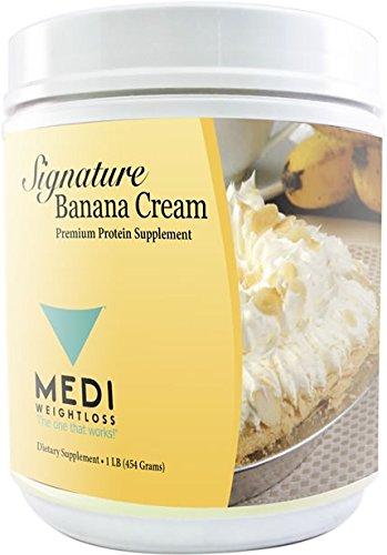Medi-Weightloss plátano crema Premium 3 proteína mezcla en polvo - alta proteína (23g) - para hambre Control durante dieta/perder peso - frasco de 1 lb