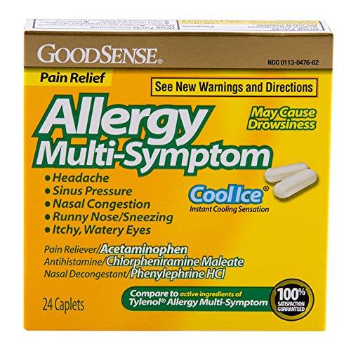 GoodSense alergia Multi-Symptom Caplets, Ice Cool, cuenta 24