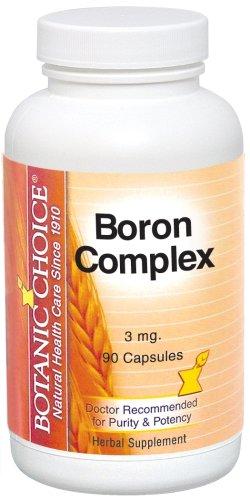 Botanic Choice, complejo de boro, 3 mg cápsulas, cuenta 90